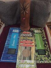 Incense Set - Holder And 3 Pks Apprx 60 Patchouli 100 Sandalwood 60 Ocean Scent