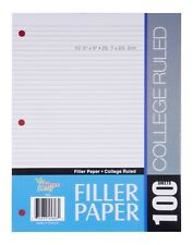 100 Sheets Filler Paper College Ruled