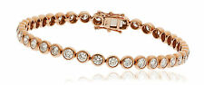 9ct ROSE GOLD 2.00CT GSI DIAMOND FANCY TENNIS LADY BRACELET GOY117