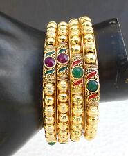 Indian Ethnic Bollywood Gold Plated UK Fashion Jewelry Bangles Bracelet Set 2.6*
