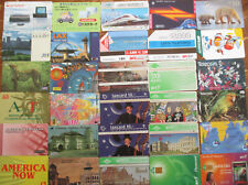 30 overseas phone cards UK BT, US, Italy, Malaysia, Japan, new zealand DD1