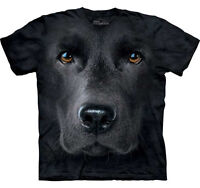 THE MOUNTAIN BLACK LAB LABRADOR   DOG PUPPY ANIMAL  BIG FACE ADULT  T SHIRT