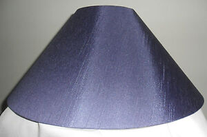 """Hand Made 16 """" Grape Purple Satin Backed  Duppion Coolie Lampshade"""