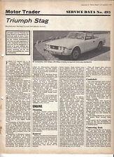 Triumph Stag Motor Trader Service Data No. 495 1970