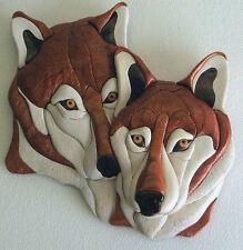 NEW ~ INTARSIA WOOD PATTERN ~    WOLF-LOVE (Original)   NEW