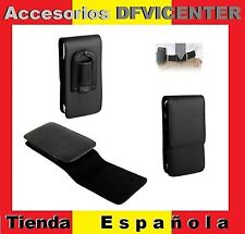 Leather Flip Belt Clip Case Holster Vertical para => NOKIA LUMIA 710