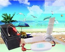 12 Volt DC 50 cm Portable Mini Ceiling Fan + Battery Cord with Alligator Clips