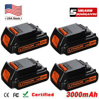 4X For Black & Decker LBXR20 20V MAX Lithium Ion Battery LCS1620 LDX220 Tool 3AH