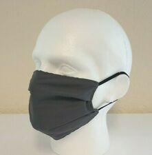 Face Mask Pleated, Pewter (3 Pack) Reusable/Washable, Dual Layered, Made in UK!