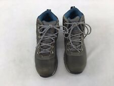 Timberland Mt. Maddsen Leather DkGrey Waterproof Hiking Boots Size 6M  F5818 MY/