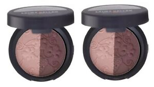 2 x Laura Geller Baked Impressions Eye Shadow Duo Fine Wines (pink/burgundy) LOT