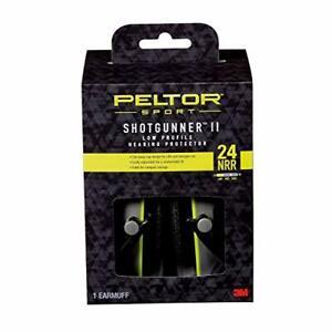 Peltor Sport Shotgunner II Low-Profile Hearing Protector Black NRR 24 dB