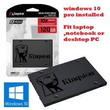 240GB 2.5 sata SSD Kingston FOR DELL dell hpibm LAPTOP windows 10 PRO + Office
