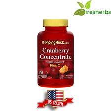 CRANBERRY 50:1 CONCENTRATE 10,000 mg EQUIVALENT PLUS C SUPPLEMENT 180 CAPSULES