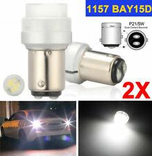 2x BAY15d 1157 LED P21/5W 8 SMD LED Bremslicht Rücklicht PKW Lampen Licht Weiß