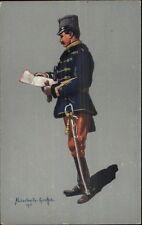 German Military Soldier/Officer in Uniform Aluschwitz Kurettski 1915 WWI PC #7