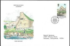 Guernsey First Day Cover - Fort Grosnez - European Size - Cacheted - Nice!