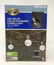 Hampton Bay 10 Bulb 14ft LED Changing Color Crackle Glass Ball String Light