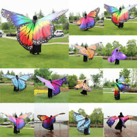 Egypt Belly Wings Dancing Costume Butterfly Wings Dance Accessories No Sticks UK
