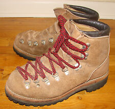 Vintage 80's Men's DEXTER Suede Mountaineering Hiking Boots Size 8M Made in USA