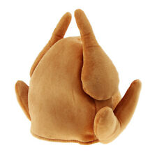 Funny Brown Plush Turkey Hat Roasted Chicken Hat Thanksgiving Party Costume