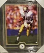 TIM BROWN NOTRE DAME AUTOGRAPHED CUSTOM FRAMED 16 × 20 PHOTO. 87 HEISMAN JSA COA