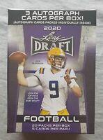 Leaf Draft Football NFL Blaster Box Premium 2020 3 Autographs per Box