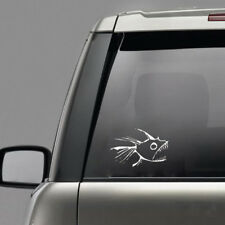 Hot Tuna Surf Vinyl Decal Fish Car Tail Bumper Window Sticker Reflective Silver
