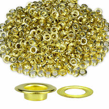 100 X 12mm Silver or Gold Eyelets With Washers for Banners Leather Craft Vinyl