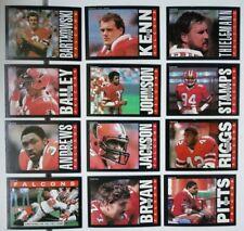 1985 Topps Atlanta Falcons Team Set of 12 Football Cards