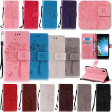 -MDKT Embossing Leather Wallet Case Cover For Sony Xperia Z5 Z4 Z3 Mini C5 E4 M5