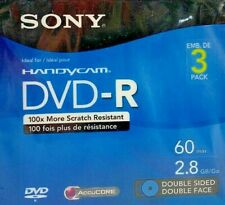 Sony - 8cm DVD-R Double Sided 3-Pack Mini Discs 2.8GB 60Min - Free Shipping