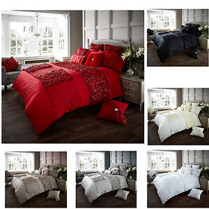 Luxury Verina Bed Runners Ruffle Smooth Bedding Bedroom Designer Collection New