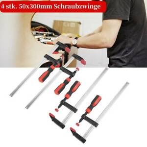 4 Stk. 300 x 50 mm Schraubzwinge Klemmzwinge Spannzwinge Holzbearbeitung AU 03