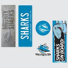 NRL Cronulla Sharks Set of 5 UV iTag Bumper Decals / Stickers