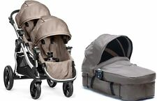 Baby Jogger City Select Twin Double Stroller Quartz with Second Seat & Bassinet