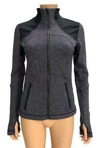 Lululemon Womens Herringbone Black Swan Forme Zip Up Fitted Jacket Size 6 NEW