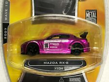 2007 JADA TOYS OPTION D DRIFT. SHOW. STREET MAZDA RX-8 #104 WITH RUBBER TIRES