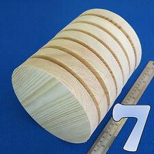 """LOTTO di 7 CERCHIO 6.0 """" / 150 mm in legno blocchi Bundle Set legno di pino naturale DISCHI"""