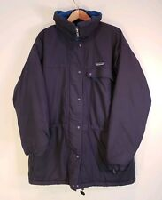 Patagonia Insulated Vintage Alpine Snow Parka Jacket Coat Women's 14 Blue Hooded