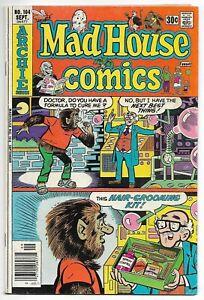 Mad House Comics #104 (Archie, 1976) – Professor Transistor – Zippy – VG/FN