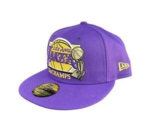 NBA New Era LA Los Angeles Lakers Hat 17x Champs Cap 59 Fifty 7 1/2
