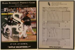 "2009 Mark Buehrle Chicago White Sox 9 x 12"" Perfect Game Print SGA Wise"