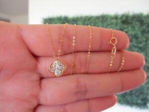 SALE‼️.02 CTW Dancing Diamond Necklace 18k Twotone Gold DDN06 sep