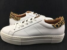 Womens Size 8 Platform Sketcher Los Angeles Street Shoes White Leather