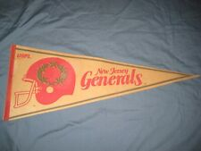 Vintage 1982 NEW JERSEY NJ GENERALS USFL Full Size Football Pennant Flag