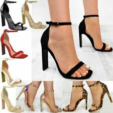 Womens Ladies High Heels Stiletto Hologram Perspex Party Sandals Barely There
