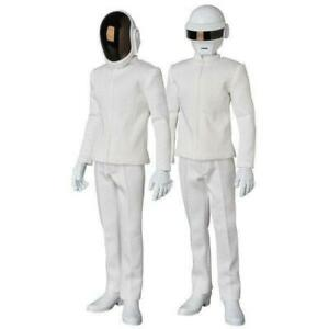 Set of 2 Medicom Toy Real Action Heroes RAH 1:6 Scale Daft Punk White Suit USED