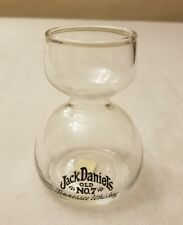 Jack Daniels Old No 7 TN Whiskey Double Bubble Shot Glass Jigger Chaser England