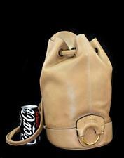 $1695 Ghurka BURMA Leather Sling Tortourelle Backpack Bucket Purse Italian Made